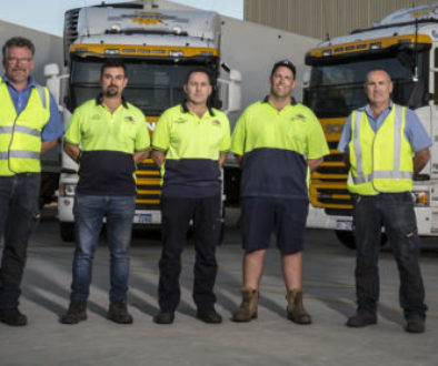 South West Express Refrigerated Transport team at Squires Cold Storage Perth