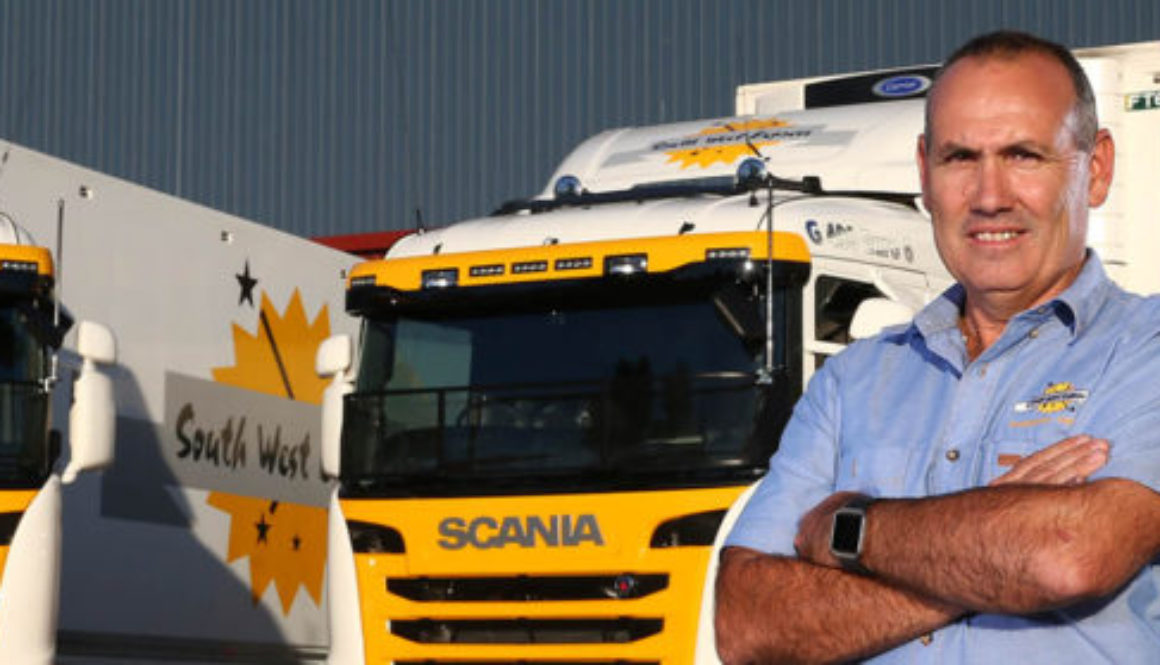 Mark Mazza with Refrigerated Transport Fleet